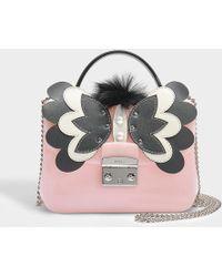 Furla - Candy Melita Meringa Mini Crossbody Bag In Pink Pvc - Lyst