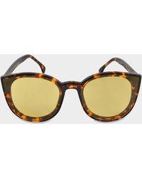 3d89e7e6d3a Spektre - Denora Sunglasses In Havana And Yellow No Mirror Ultra Thin  Acetate - Lyst