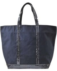 Vanessa Bruno - Sequins And Canvas Medium Zipped Tote - Lyst