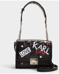 Kaia algodón mini negro en Lyst Karl Lagerfeld Graffiti bolso X xSAwS