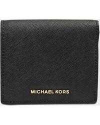 MICHAEL Michael Kors - Jet Set Travel Caryall Card Case - Lyst