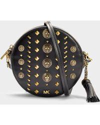 MICHAEL Michael Kors - Medium Canteen Bag In Studded Black Calfskin - Lyst