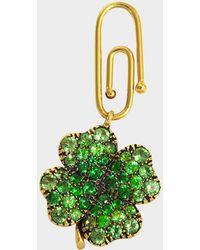 Aurelie Bidermann - Fine Jewellery - 18k Gold Clover Pendant With Tsavorites - Lyst