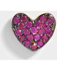 Anton Heunis Heart Mono Earring in Ruby and 14K Gold wDQyxXMAi