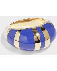Aurelie Bidermann Positano Ring In Red Resin And Gold Plated Brass