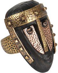Valentino - Primitve Mask Ring - Lyst