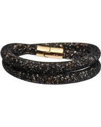 Swarovski - Stardust Dorado Double Bracelet - Lyst