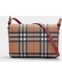 Burberry - Hampshire Wallet With Removable Strap In Crimson Calfskin - Lyst 48be98e7b900b