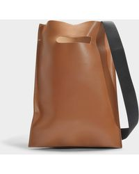 MM6 by Maison Martin Margiela - Leather Bag In Cognac Calfskin - Lyst