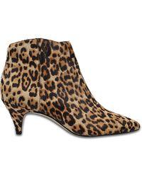 Sam Edelman - Kinzey Leopard Booties - Lyst