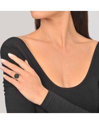 Ginette NY - Black Diamond 18-karat Rose Gold Disc Ring - Lyst