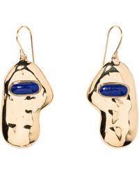 Aurelie Bidermann - Peggy Earrings With Lapis Lazuli - Lyst