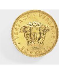 Versace - Gianni Brooch In Gold Calfskin - Lyst