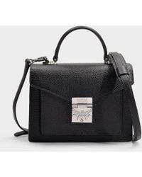 MCM - Patricia Park Avenue Small Satchel In Black Calfskin - Lyst