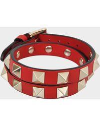 Valentino - Rockstud Choker And Double Bracelet - Lyst