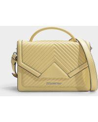 Karl Lagerfeld - K klassik Quilted Shoulder Bag In Lemon Calfskin - Lyst 7af15330e2f04