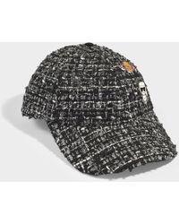Karl Lagerfeld - Karl Space Tweed Pins Cap In Multicolor Synthetic Material - Lyst