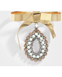 Marni - Brooch In Mint Metal And Strass - Lyst