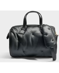 Anya Hindmarch - Chubby Barrel Bag In Black Quilted Calf Leather - Lyst