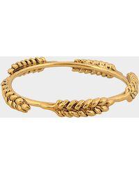 Aurelie Bidermann - Wheat Multi Cobs Bangle Bracelet In Gold Metal - Lyst