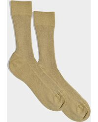 Maria La Rosa - Glitter Socks In Gold Nylon And Synthetic Fabric - Lyst