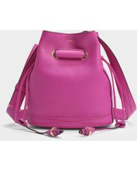 Lancel - Le Huit S Bucket Bag In Cyclamen Grained Leather - Lyst