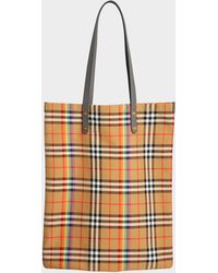 Tote Yellow And Flax Lyst Caramel Reversible In Bag Burberry nwwAHxzE