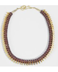 Aris Geldis - Amethyst & Gold Sequins Choker Necklace In Amethyst Coated Brass Gold - Lyst