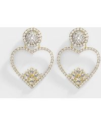 Shourouk - Renata Crystal Earrings In Crystal Metal - Lyst