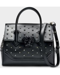 Versace - City Stud Palazzo Empire Leather Tote - Lyst