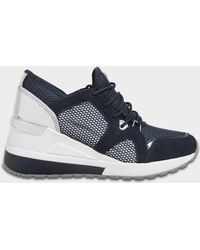 MICHAEL Michael Kors - Mk Trainers Shoes In Admiral Nappa And Sport Suedes - Lyst
