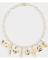 Aurelie Bidermann - Aurélie Necklace In Gold Metal - Lyst