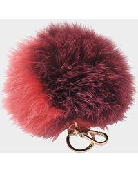 Furla - Bubble Keyring Pon Pon Bi-color - Lyst