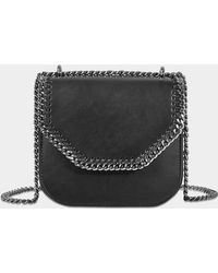 Stella McCartney - Mini Falabella Box Shoulder Bag In Black Synthetic Material - Lyst