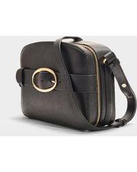 Vanessa Bruno - Medium Box Crossbody Bag In Black Calfskin - Lyst