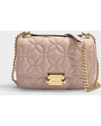 f289582de14a MICHAEL Michael Kors - Sloan Small Chain Shoulder Bag In Soft Pink Quilted  Lambskin - Lyst