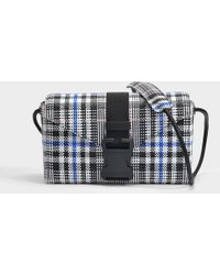Christopher Kane - Woven Tartan Devine Bag In Black And White Woven Check - Lyst