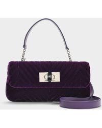 Giorgio Armani - Baguette Bag In Purple Cotton - Lyst