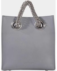 Alexander Wang - Genesis Shopper Bag In Washed Denim Calfskin - Lyst