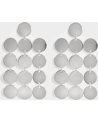 Saskia Diez - Paillettes Chandelier N°1 Earrings In Silver - Lyst