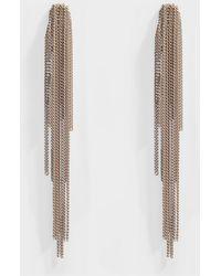 Helene Zubeldia - Palace Long Clip Earrings With Cascade Chain In Metallic Aluminum - Lyst