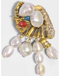 Sonia Rykiel - Seashell Brooch In Brass - Lyst