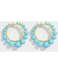 Aurelie Bidermann - Ana Medium Ohrringe aus türkisem Color Perlen und 18K vergoldetem Messing - Lyst