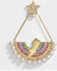 Anton Heunis - Rainbow Lighting Bulb Mono Earring In 14k Gold And Precious Stones - Lyst