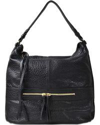Gerard Darel - Midday Gd Bag In Black Lambskin Leather - Lyst