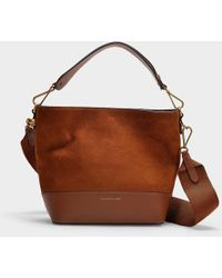 Polo Ralph Lauren - Sullivan Bucket Hobo Small Bag In Saddle Nubuck And Nappa Leather - Lyst