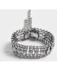 Helene Zubeldia - Crystals Cascade Open Bracelet In Ruthenium And Crystals - Lyst