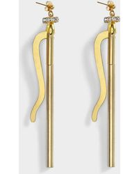 Aris Geldis - Longevity Earrings In Gold And Strass Plated Brass - Lyst