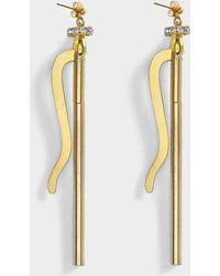 Aris Geldis - Longevity Earrings In Gold And Strass Plated Brass - Lyst