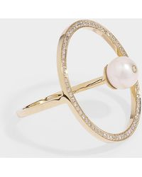 Anissa Kermiche - Reine Ring In 14k Yellow Gold And Diamonds - Lyst